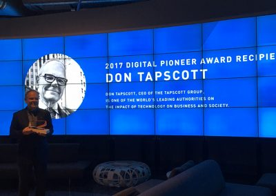 2017 Digital Pioneer: Don Tapscott